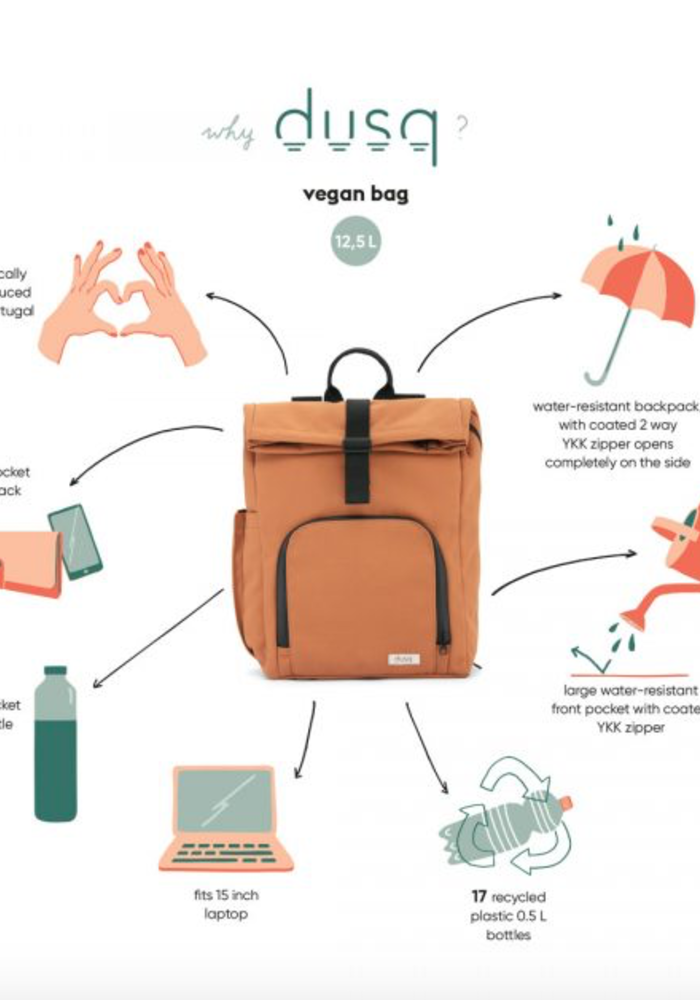 Dusq Vegan Bag Sunset Cognac