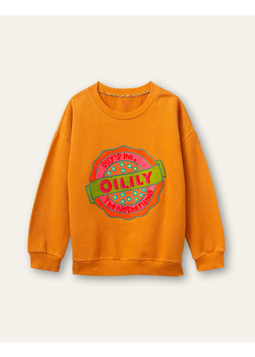 Oilily Oilily  Heritage Sweater Pumpkin with Oilily Artwork