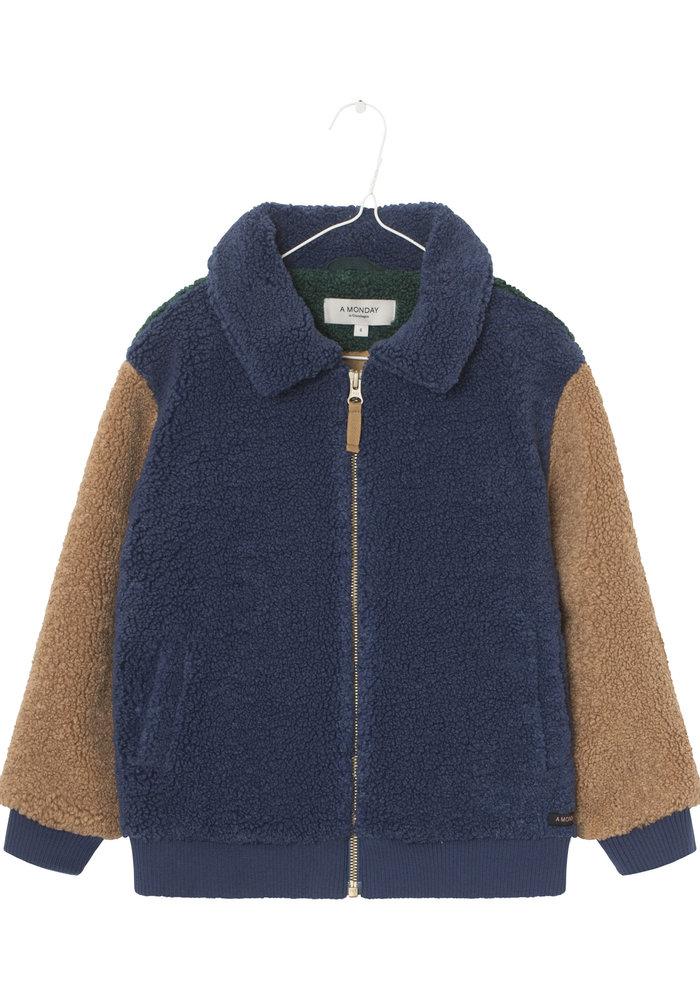 A Monday In Copenhagen Sebastian Fleece Jacket Blue Indigo