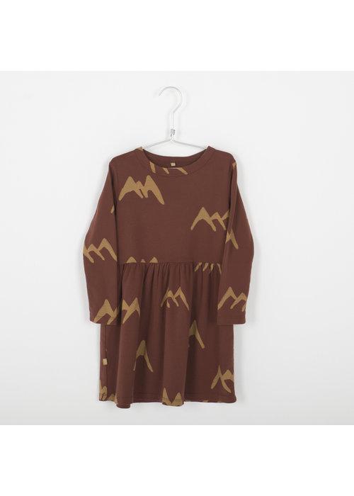 Lötiekids Lötiekids Dress Waist Seam Mountains Rust Brown