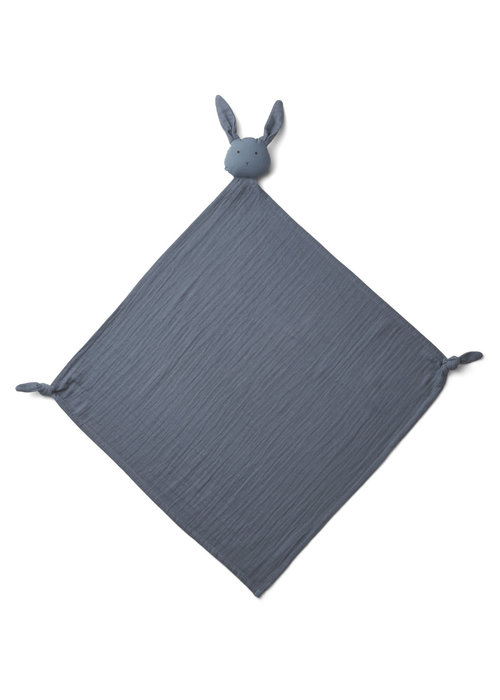 Liewood Liewood Robbie Multi Muslin Cloth Rabbit Blue Wave