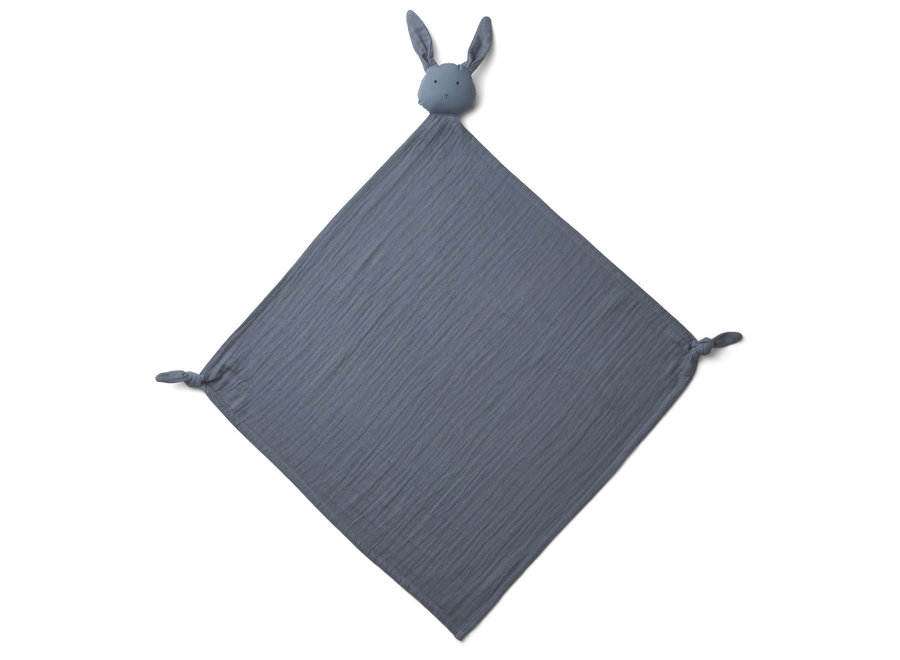 Liewood Robbie Multi Muslin Cloth Rabbit Blue Wave