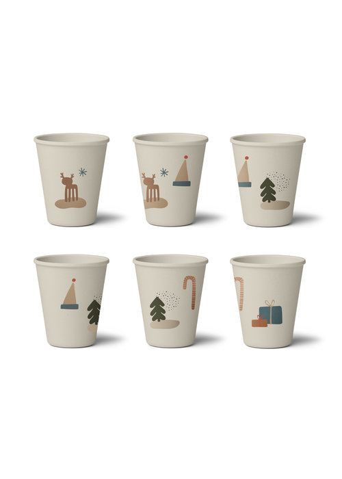 Liewood Liewood Gertrud Bamboo Cup  6-pack Holiday Mix