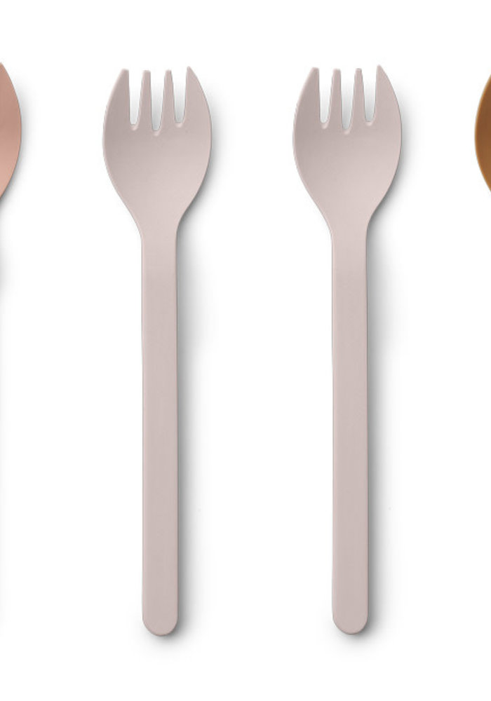 Liewood Naoto Bamboo Fork 6-pack Rose Multi Mix