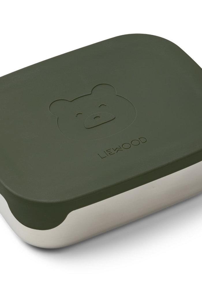 Liewood Arthur Lunchbox Mr Bear Hunter Green