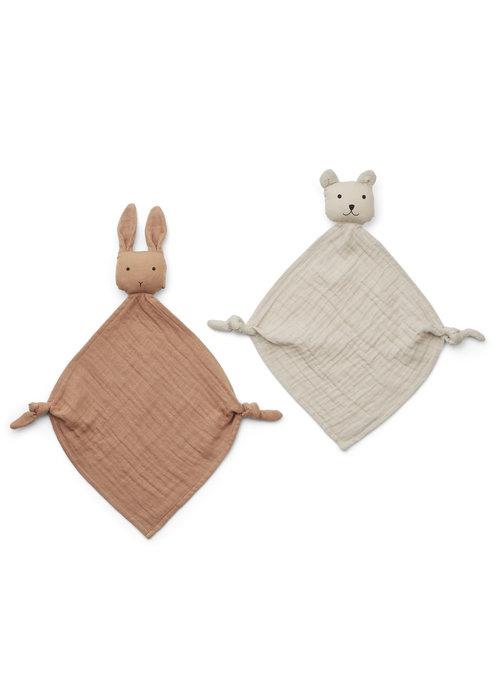 Liewood Liewood Yoko Mini Cuddle Cloth 2-pack Tuscany Rose/Sandy Mix