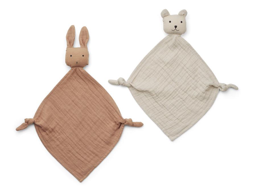Liewood Yoko Mini Cuddle Cloth 2-pack Tuscany Rose/Sandy Mix