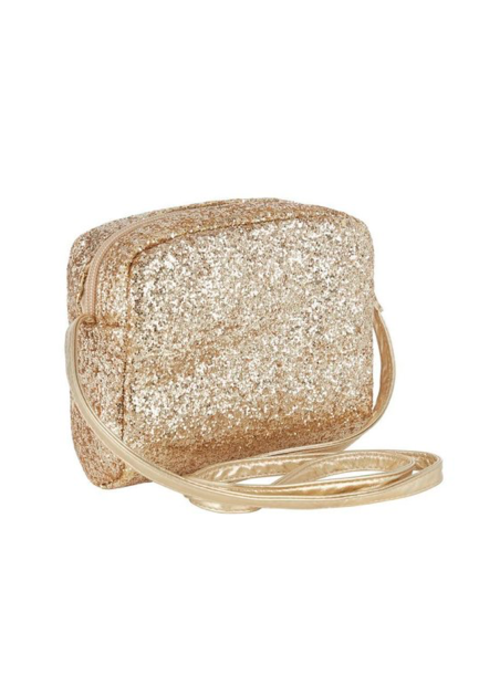 Mimi&Lula Mimi & Lula Glitter Cross Body Bag Gold