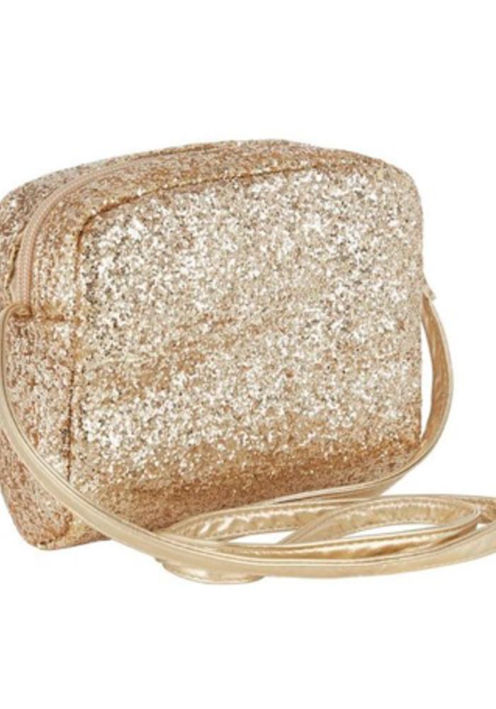 Mimi & Lula Glitter Cross Body Bag Gold
