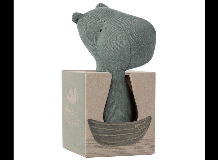 Maileg Noah's Friends Hippo Rattle