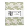 Swedish Linens Swedish Linens WAVES Sage Green Fitted Toddler Bed Sheet 70x160cm