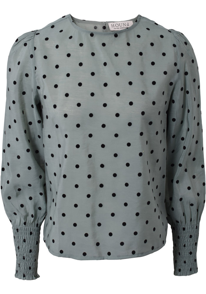 HOUND Dotted Top Dusty Green