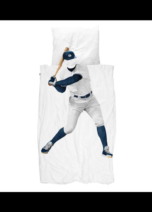 SNURK SNURK dekbedovertrek Baseball Player 1-persoons 140x90cm