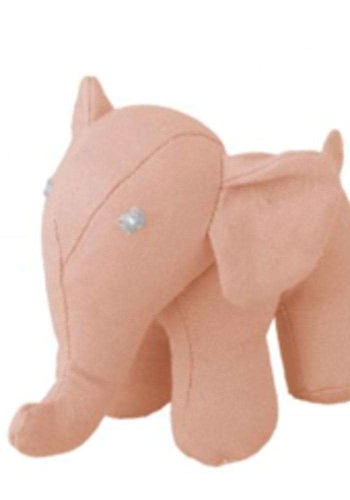 Global Affairs Canvas Elephant  Rattle Pink