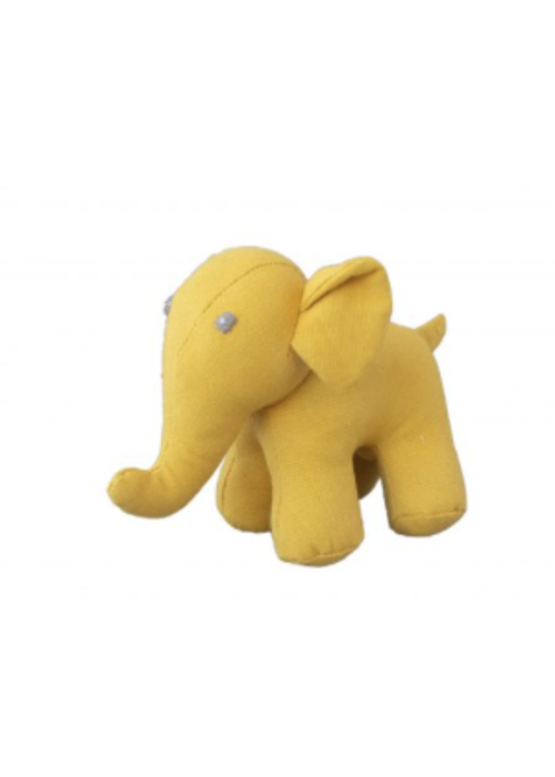 Global Affairs Global Affairs Canvas Elephant  Rattle Yellow