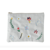 Global Affairs Global Affairs Pouch Embroidered Flowers Oyster