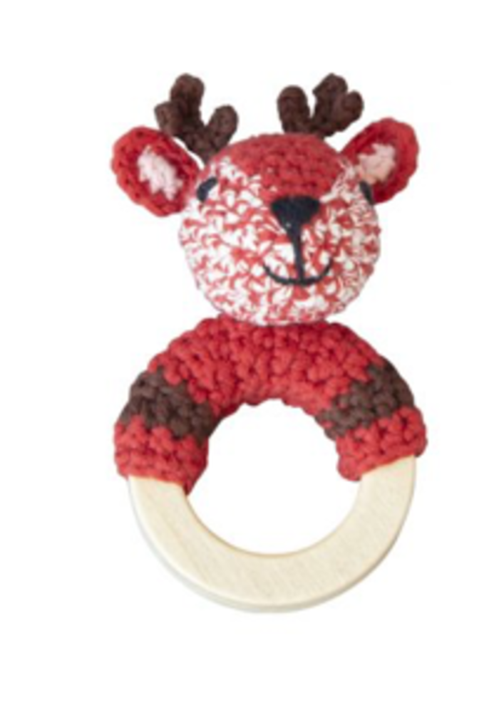 Global Affairs Crochet Rattle Woodland Deer