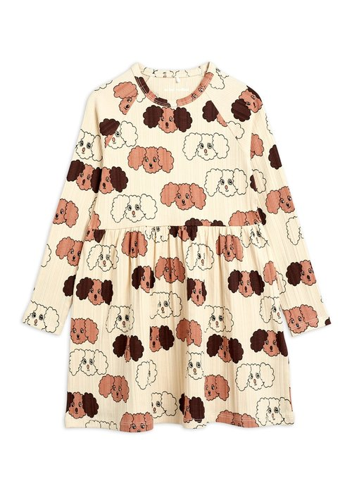 Mini Rodini Mini Rodini Fluffy Dog AOP LS Dress