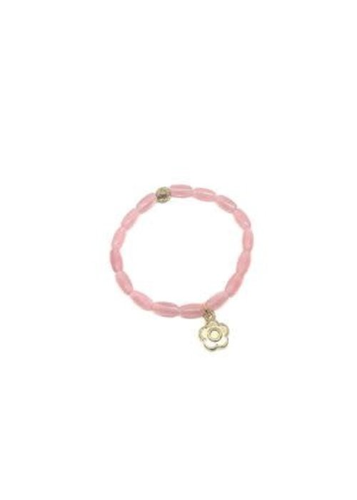Manjewell Manjewell Bracelet Flower Pink