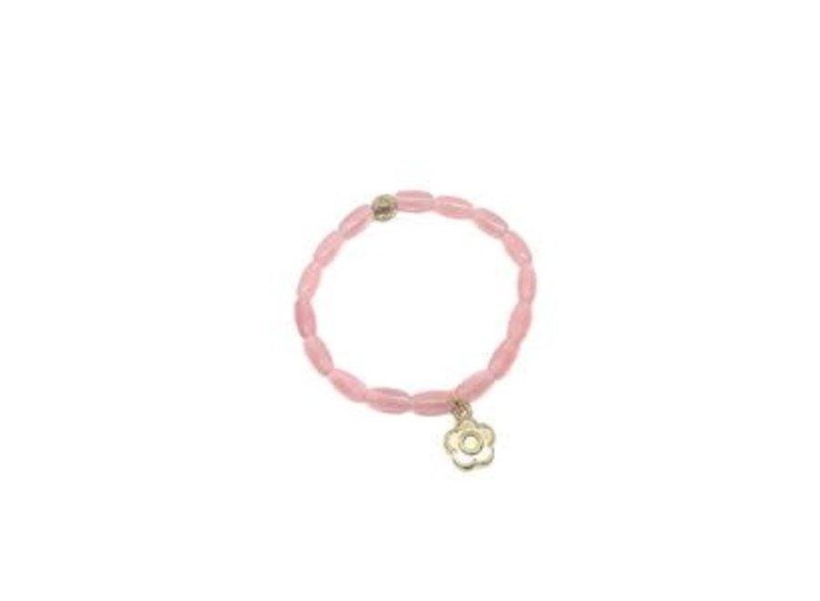 Manjewell Bracelet Flower Pink