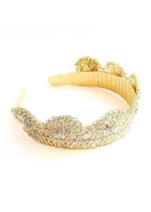 Manjewell Manjewell Feather Crown Gold