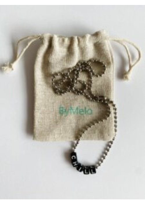 ByMelo ByMelo Tekst Ketting Unisex Chill