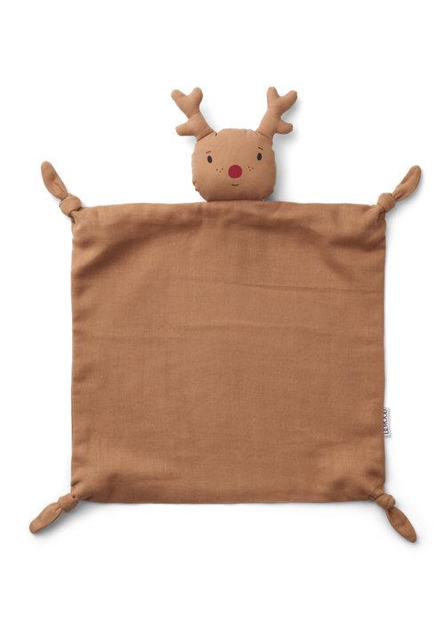 Liewood Liewood Agnete Cuddle Cloth Reindeer Tuscany Rose