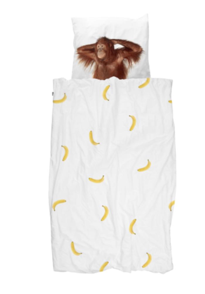 SNURK dekbedovertrek  Banana Moon 1-persoons 140x90cm