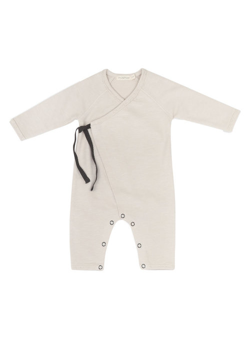 Phil&Phae Phil & Phae Cross-over Newborn Suit Oatmeal