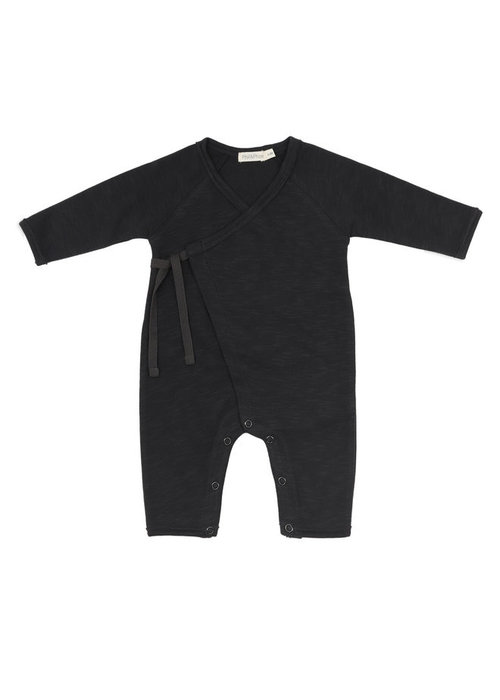 Phil&Phae Phil & Phae Cross-over Newborn Suit Charcoal