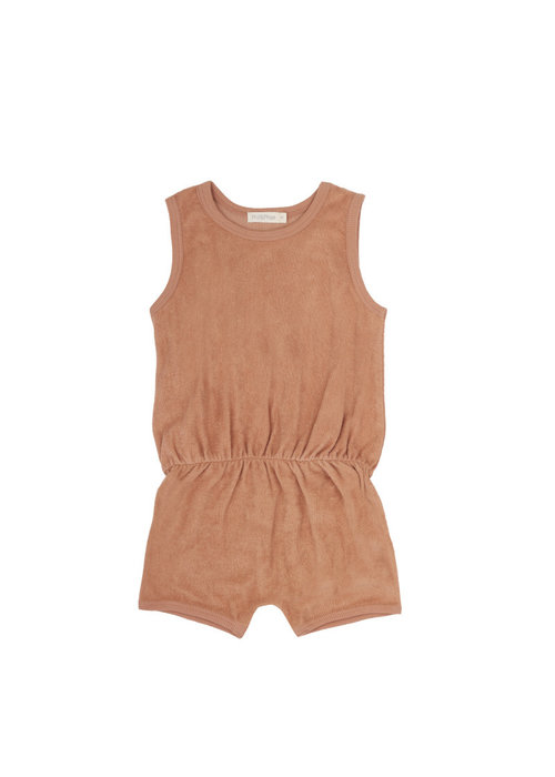 Phil&Phae Phil & Phae Frotté Playsuit Warm Biscuit