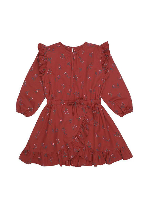 Soft Gallery Soft Gallery Ea Dress Red Ochre Cloudberry AOP