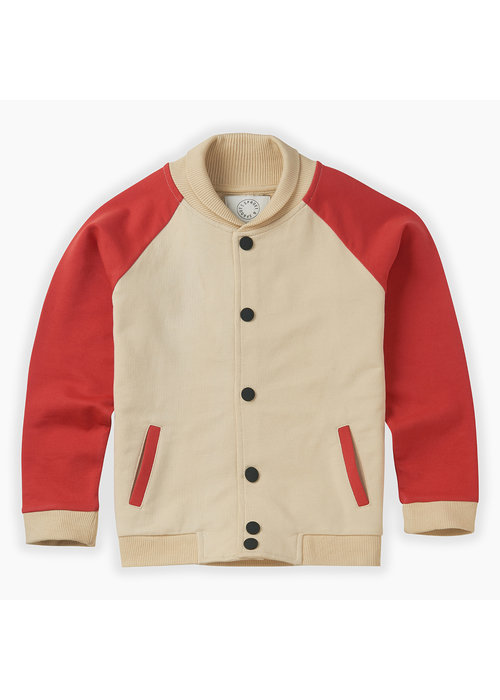 Sproet & Sprout Sproet & Sprout Baseball Jacket Sesame