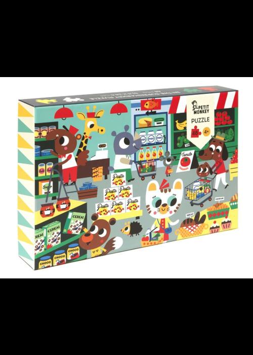 Petit Monkey Petit Monkey Puzzle In the Supermarket 48 pcs/ 4 yrs+