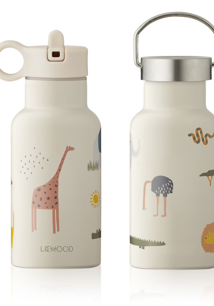 Liewood Anker Water Bottle - Safari Sandy Mix