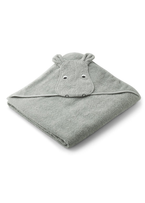 Liewood Liewood Augusta Hooded Towel - Hippo Dove Blue