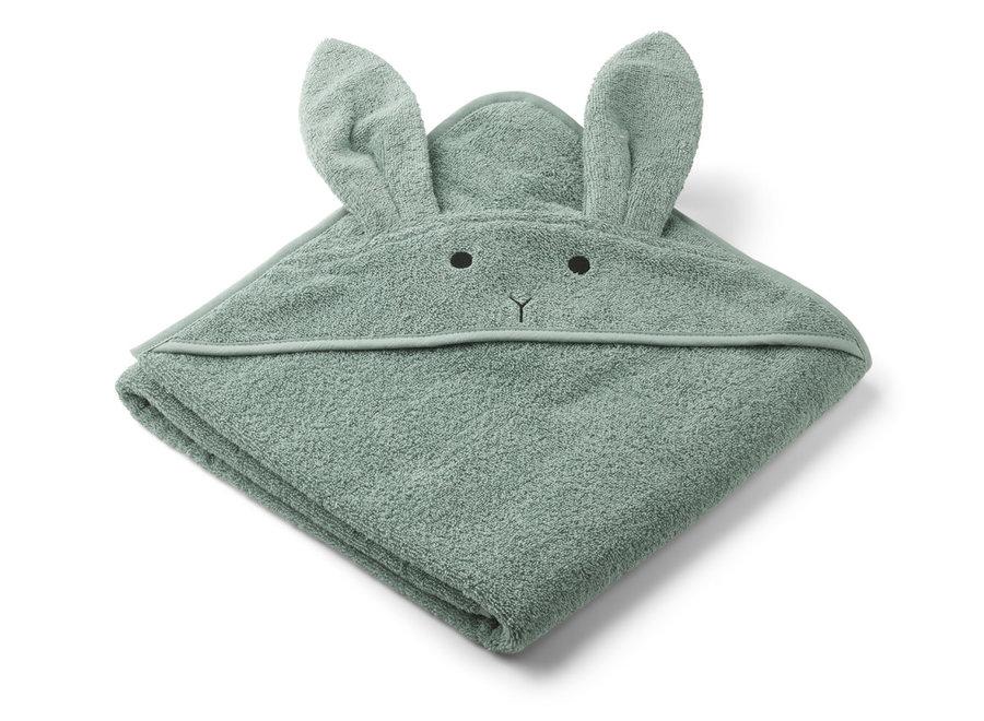 Liewood Augusta Hooded Towel - Rabbit  Peppermint