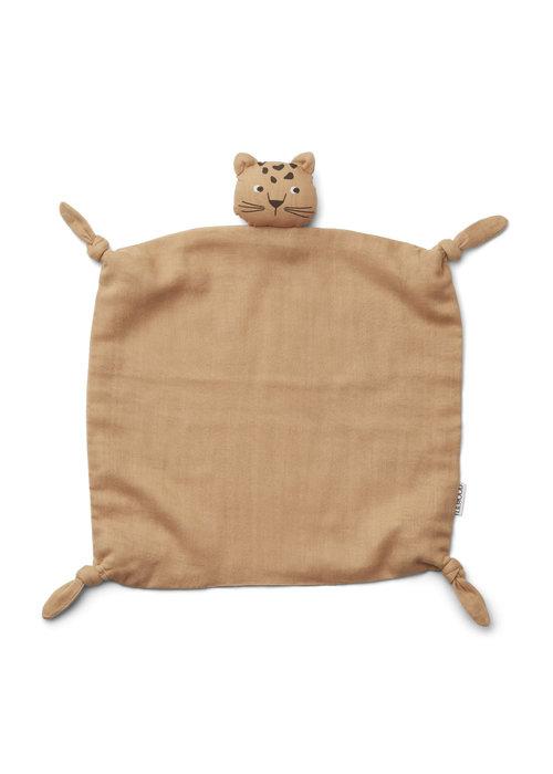 Liewood Liewood Agnete Cuddle Cloth Leopard Apricot