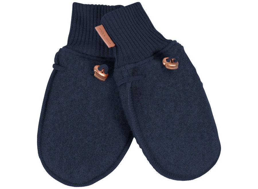 Mikk-Line Wool Mittens Blue Nights
