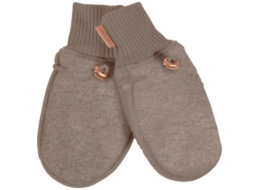 Mikk-Line Wool Mittens Melange Denver