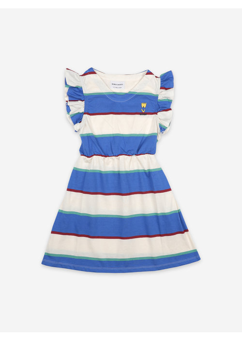Bobo Choses Bobo Choses Stripes Jersey Ruffle Dress