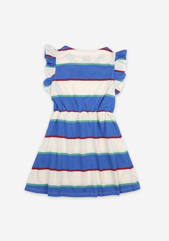 Bobo Choses Stripes Jersey Ruffle Dress