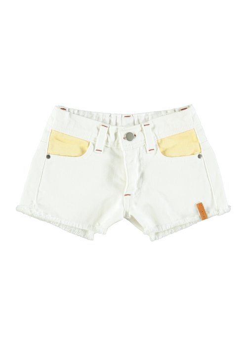 PiuPiuChick PiuPiuChick Tricolor Shorts Off White Yellow Pink & Green
