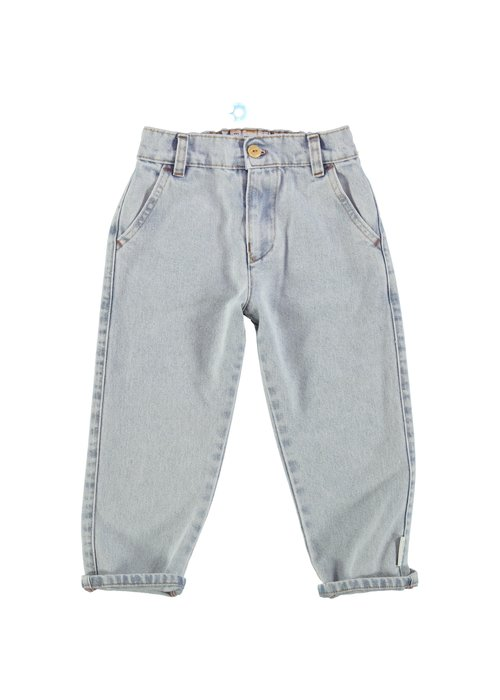 PiuPiuChick PiuPiuChick Unisex Trousers Light Blue Washed Denim