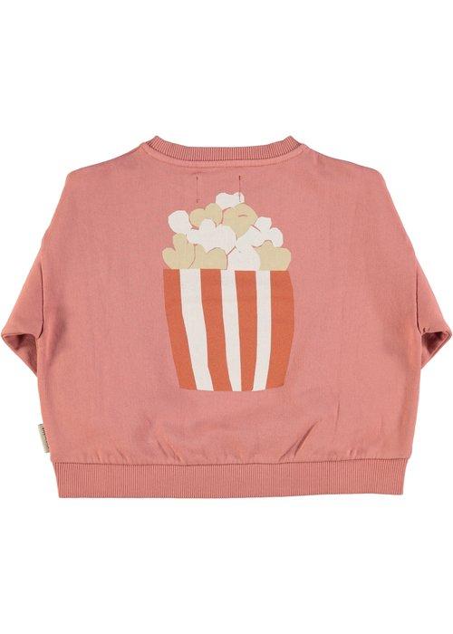 PiuPiuChick PiuPiuChick Unisex Sweatshirt Pink Popcorn Print