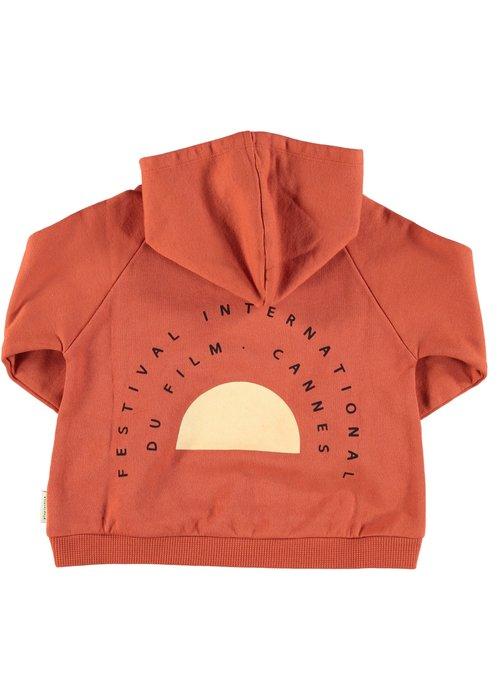 PiuPiuChick PiuPiuChick Hooded Sweatshirt Garnet Print