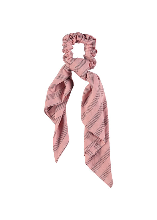 PiuPiuChick PiuPiuChick Elastick Hair Band Pink Grey Stripes