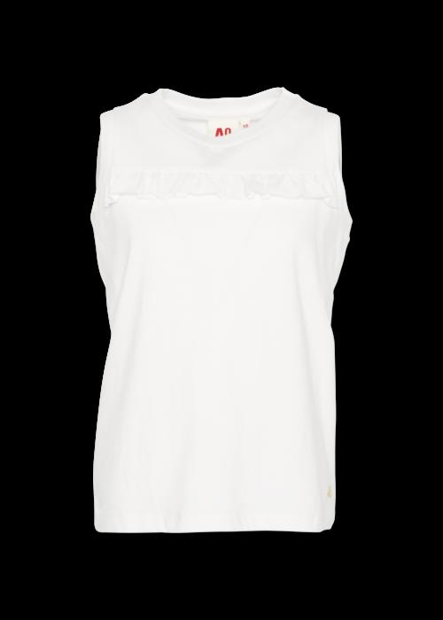 AO76 AO76 T-shirt c-neck Ruffle Vintage White