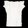 AO76 AO76 T-shirt c-neck Ruffle Bruna Vintage White