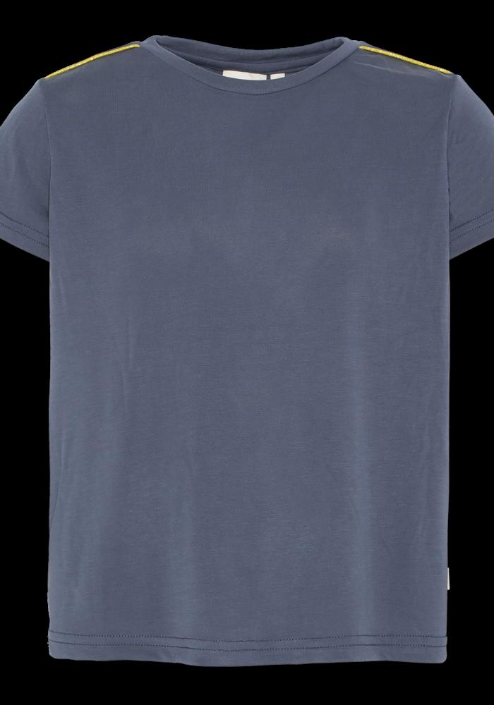 AO76 T-shirt c-neck Pique Washed Blue